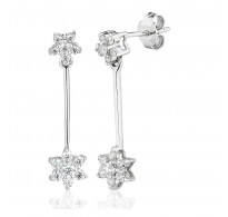 Double Cluster Drop Earrings (0.75ct)