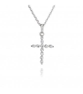 Claw Set Cross Pendant (0.33ct)