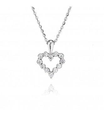 Claw Set Heart Pendant (0.50ct)