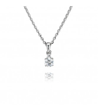 Single Stone Four Claw Pendant With Single (0.40ct)