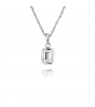 Single Stone Rubover Emerald Pendant (1.00ct)